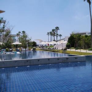 会場内にはプールがたくさんあり、夏はとても涼しげでした|537543さんのリビエラ逗子マリーナ(シーサイド リビエラ)の写真(1066781)