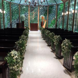 入った瞬間目に入る、緑がとても素敵でした。|544117さんのアーヴェリール迎賓館(名古屋)の写真(871714)