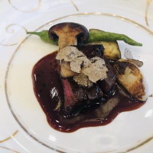 京野菜とトリュフ、フォアグラの乗った黒毛和牛のロシーニ|544646さんの京都 アートグレイス ウエディングヒルズの写真(870537)
