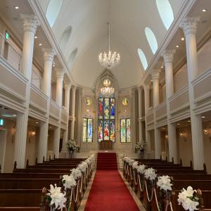 天井は高く、バージンロードも長めです。|545207さんの京都 アートグレイス ウエディングヒルズの写真(875009)