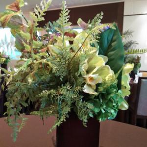 テーブルコーディネートによく似合う装花 546331さんのブランヴェールアベニュー熊本の写真(884635)