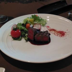 味彩牛のステーキ。柔らかく、口に入れるととろける。 546331さんのブランヴェールアベニュー熊本の写真(884597)