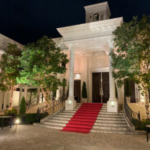 ライトアップされたチャペル|547548さんのアクアガーデン迎賓館(沼津)の写真(896056)