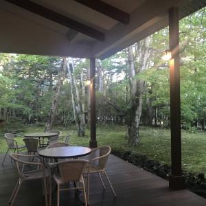 ウッドデッキ 547677さんのホテル軽井沢エレガンス 「森のチャペル軽井沢礼拝堂」の写真(897273)