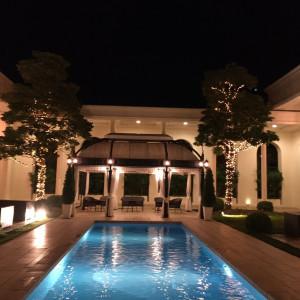 夜のプール|548144さんのアクアガーデン迎賓館(沼津)の写真(901231)