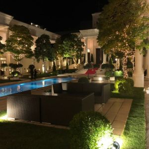 夜のプール|548144さんのアクアガーデン迎賓館(沼津)の写真(901222)
