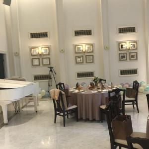 白くて、結婚式場の雰囲気にぴったりの会場だった。|549020さんのアーヴェリール迎賓館(名古屋)の写真(910955)