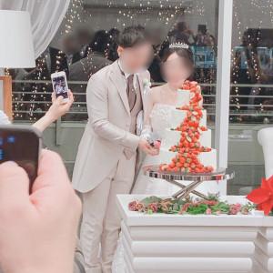 披露宴会場とウェディングケーキ|551131さんのグラン・スイートの写真(923624)