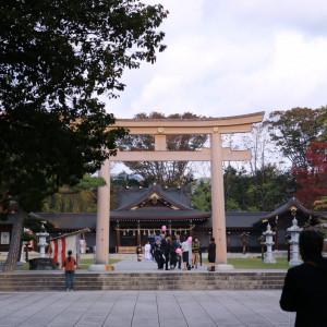迫力満点の鳥居|551196さんの長野縣護國神社の写真(935369)