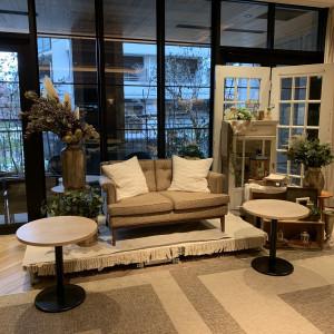 新郎新婦用のソファー。装飾がお洒落で素敵でした。|556107さんのSakuranoki Wedding(さくらの樹ウエディング)の写真(971204)