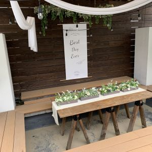 ガーデン内に堀こたつのような場所があり集合写真が撮れます。|558115さんのLA TABLE Aoyama(ラ ターブル アオヤマ)の写真(982180)