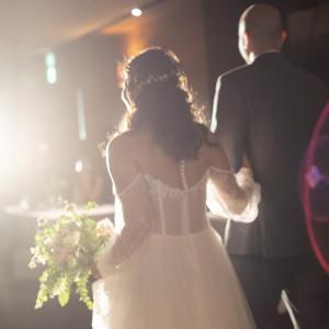 照明さんとカメラマンさんのおかげで素敵な写真が出来ました♡|568779さんの8G Horie RiverTerrace Weddingの写真(1085123)