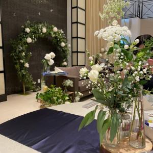 ゲストから見たメインソファ 575147さんのアルカンシエル横浜 luxemariage アルカンシエルグループの写真(1217861)
