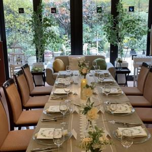 披露宴会場テーブル、高砂 575974さんのメイヤー・ライニンガー記念礼拝堂の写真(1133343)