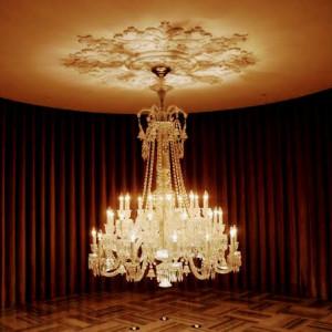 バカラ製のシャンデリア|590989さんのチャペル・ド・コフレの写真(1244271)